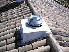 Instalación sobre teja
