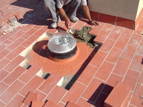 Instalación Solatube sobre base sin zócalo